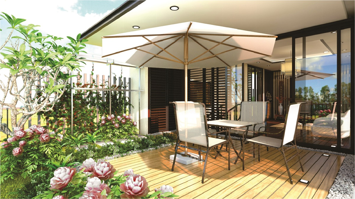 thiết kế quán cafe sân vườn diện tích nhỏ 3