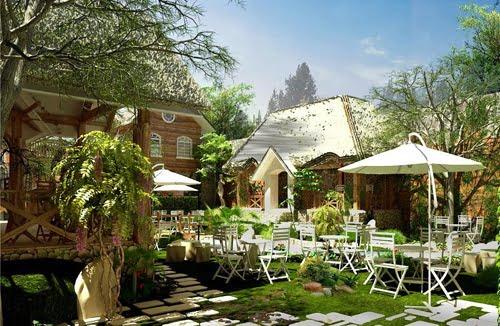 thiết kế quán cafe sân vườn đẹp 13
