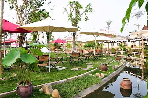 thiết kế quán cafe sân vườn đẹp 16