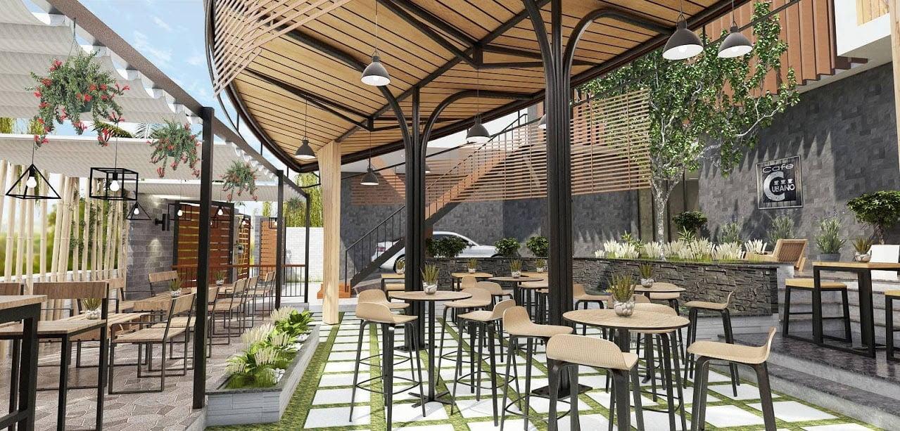 thiết kế quán cafe sân vườn diện tích nhỏ 13