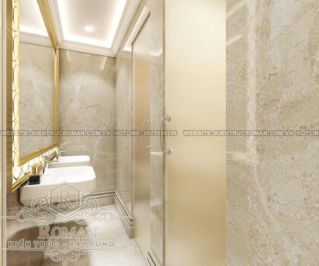 phòng tắm thiết kế quán karaoke cổ điển