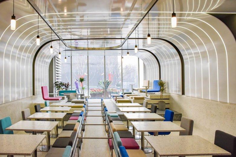 thiết kế thi công nội thất nhà hàng 14