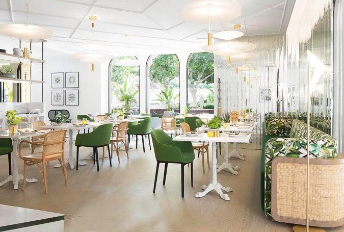 thiết kế thi công nội thất nhà hàng 2
