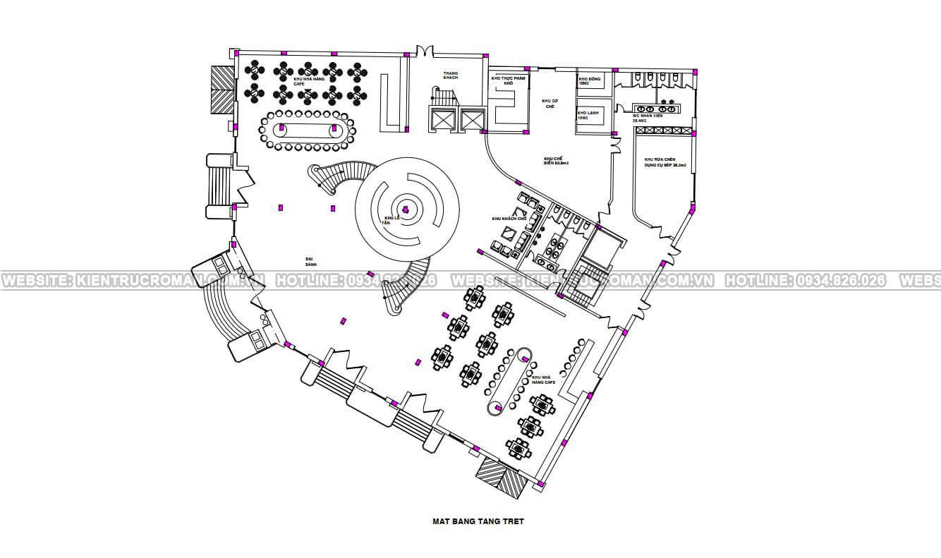 thiết kế trung tâm tiệc cưới bản vẽ