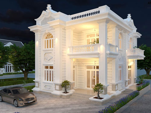 Top 8 mẫu biệt thự tân cổ điển kiểu Pháp sang trọng nhất hiện nay