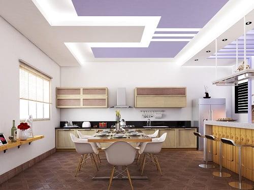 trần thạch cao phòng bếp 1