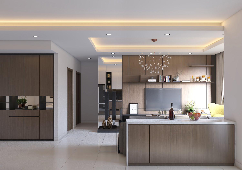 trần thạch cao phòng bếp 11