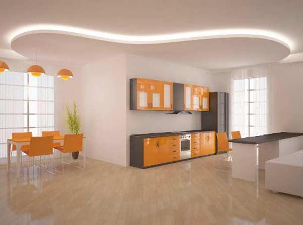 trần thạch cao phòng bếp 13
