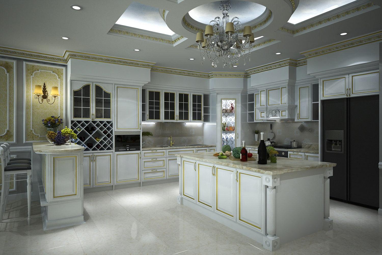 trần thạch cao phòng bếp 15