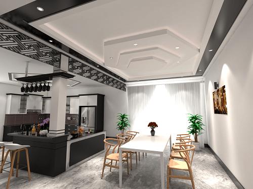 trần thạch cao phòng bếp 2