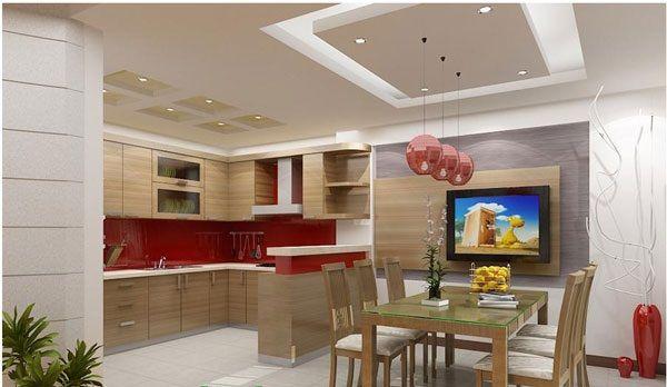 trần thạch cao phòng bếp 5