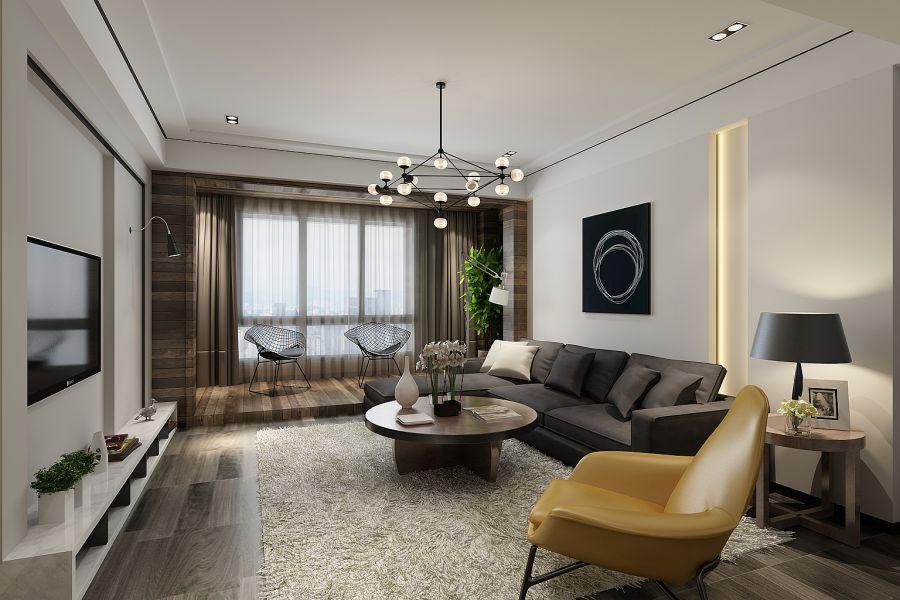 trần thạch cao phòng khách đơn giản 11