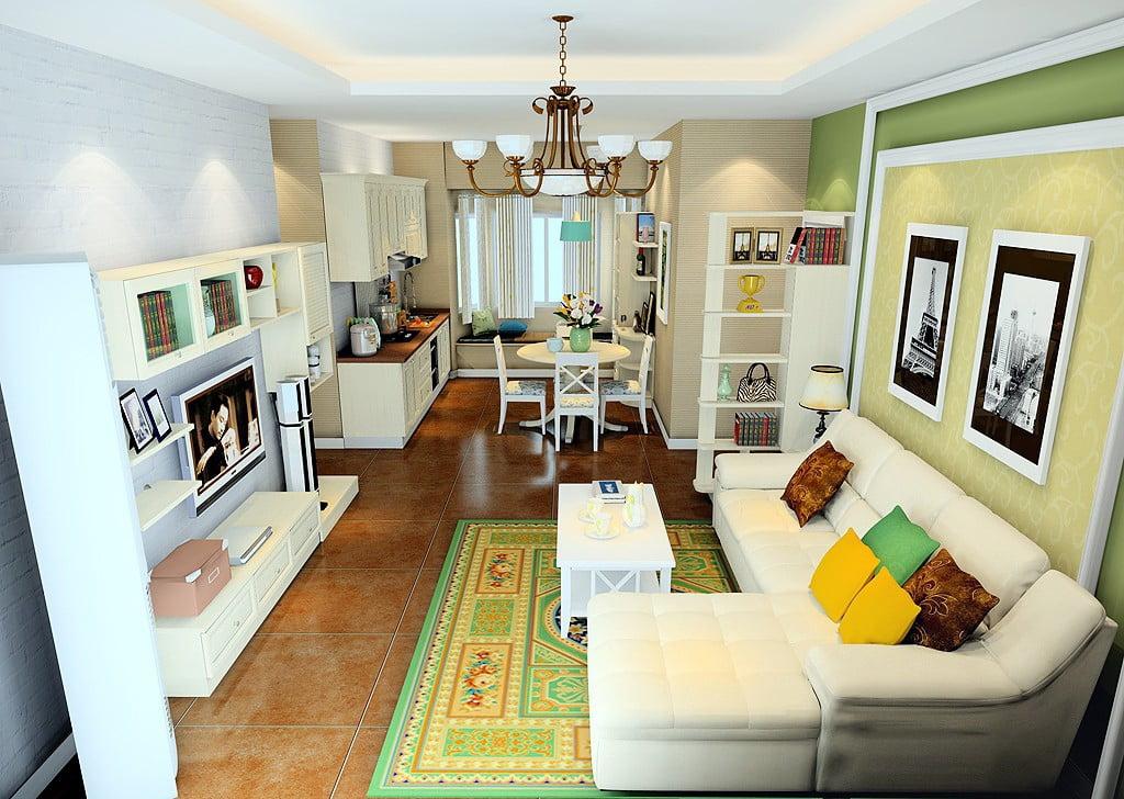 trần thạch cao phòng khách đơn giản 13