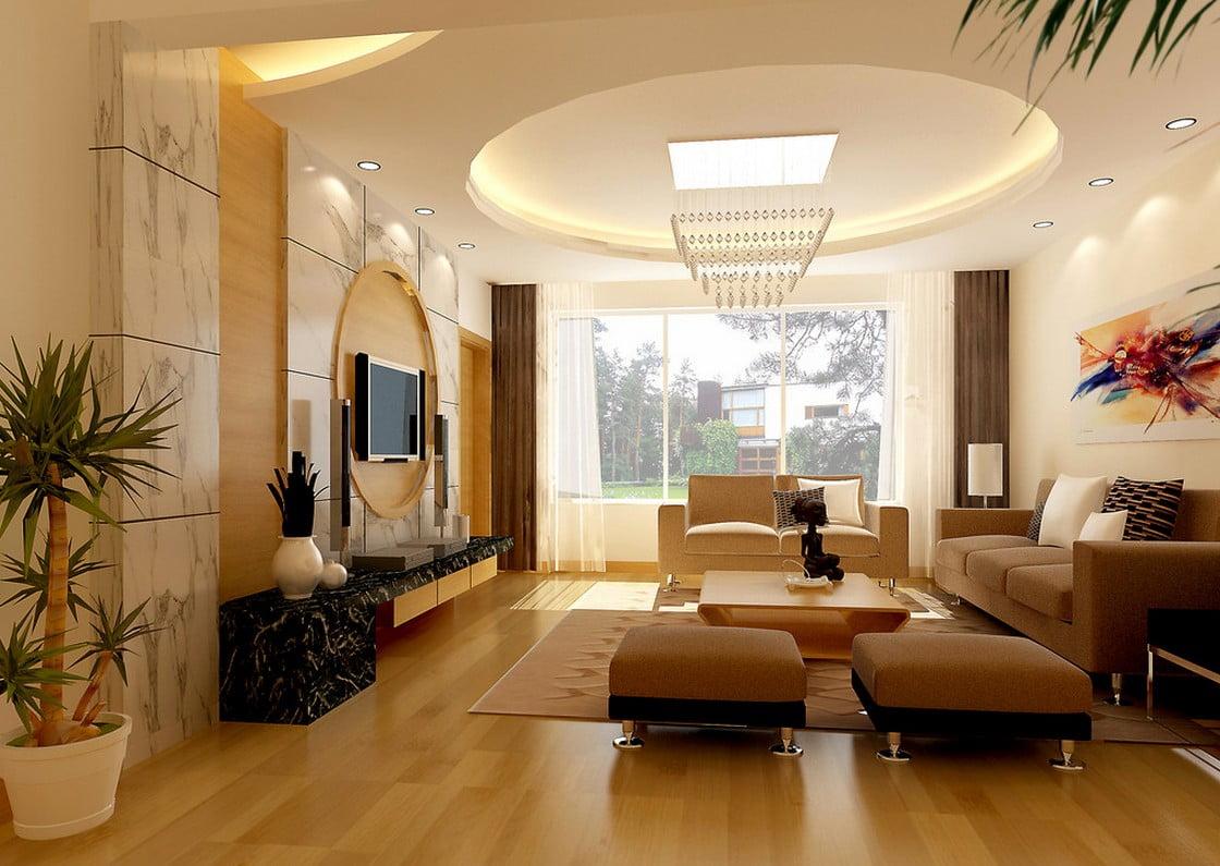 trần thạch cao phòng khách đơn giản 18