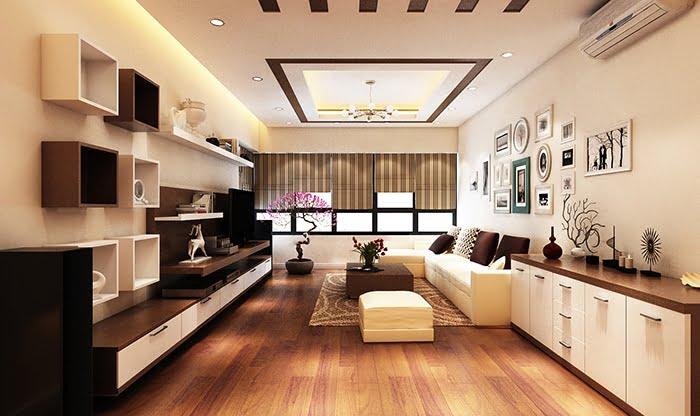 trần thạch cao phòng khách đơn giản 20