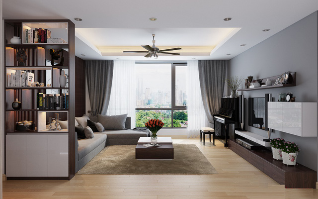 trần thạch cao phòng khách đơn giản 22