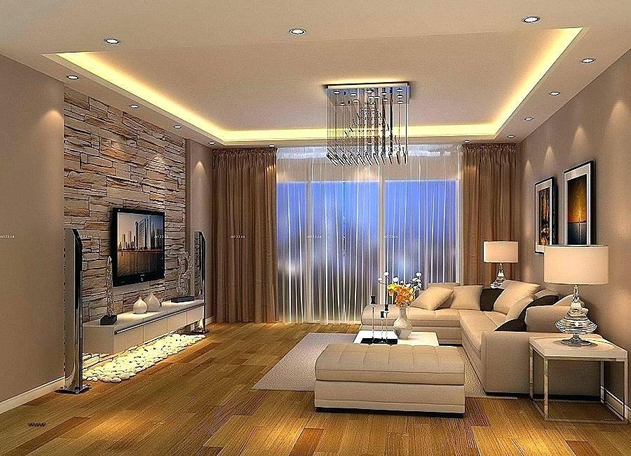 trần thạch cao phòng khách đơn giản 23