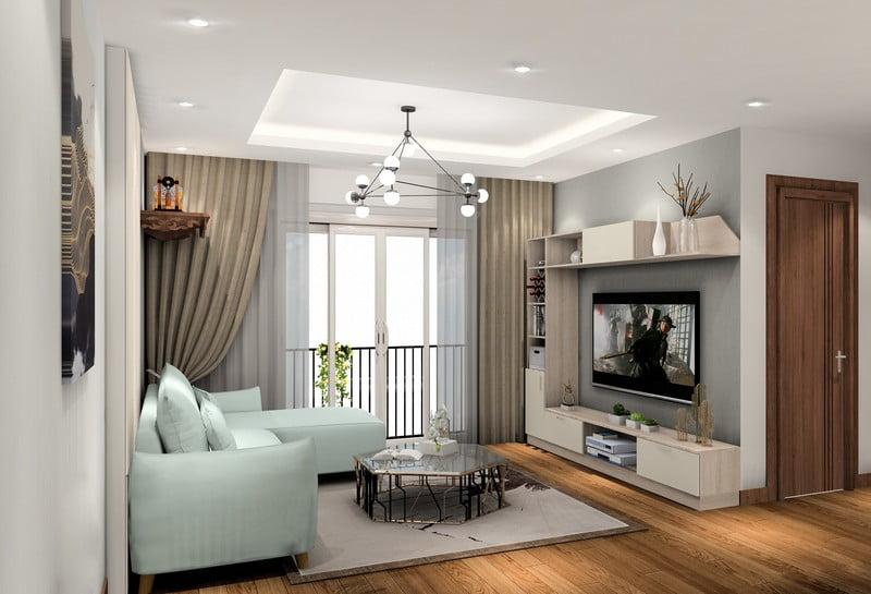 trần thạch cao phòng khách đơn giản 24