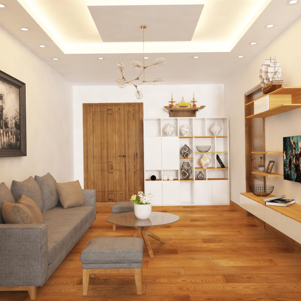 trần thạch cao phòng khách đơn giản 6