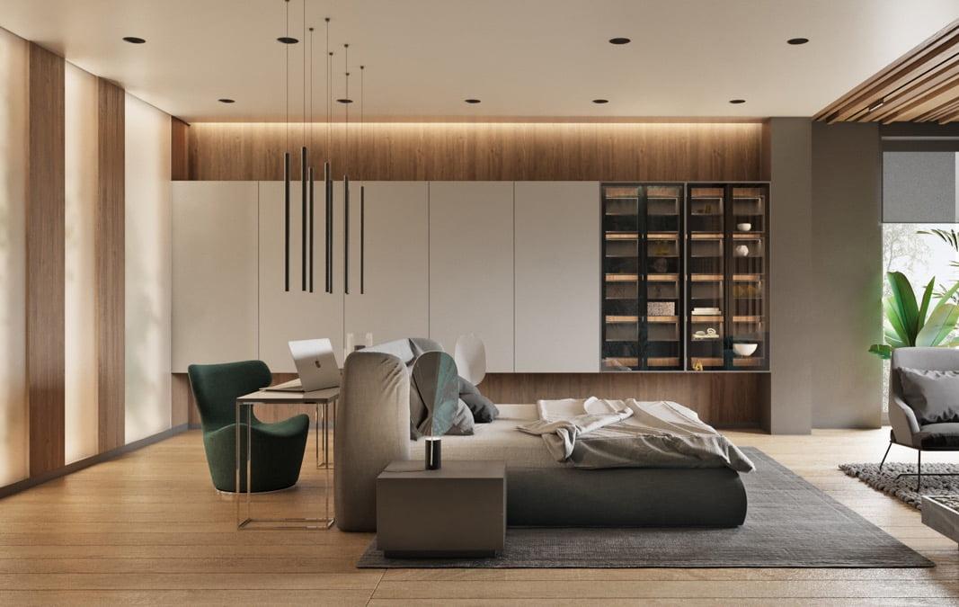 trần thạch cao phòng ngủ đẹp đơn giản