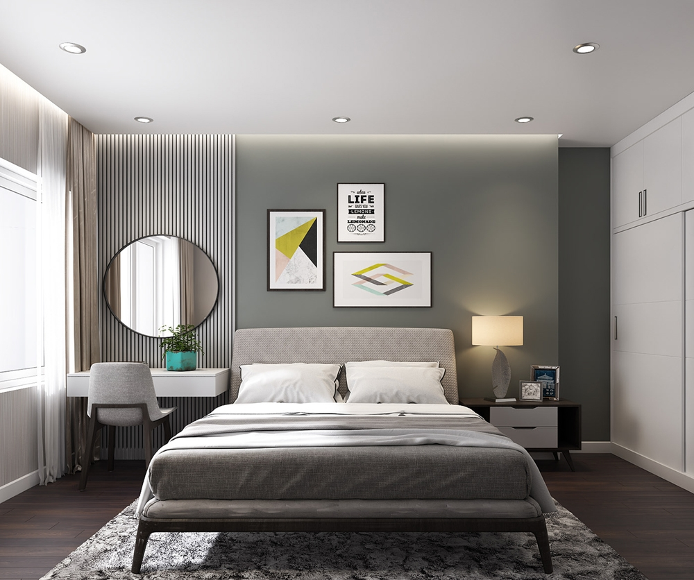 trần thạch cao phòng ngủ đẹp