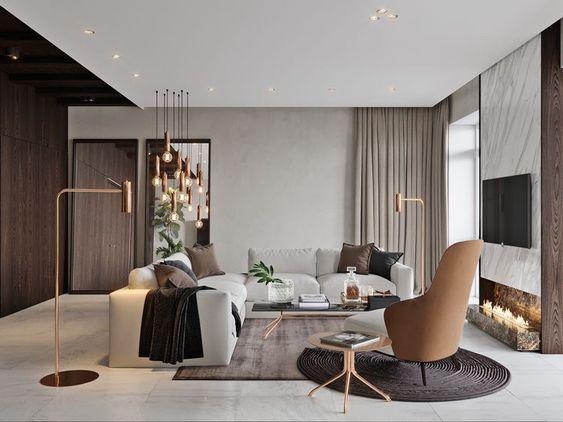 trang trí phòng khách đơn giản 1