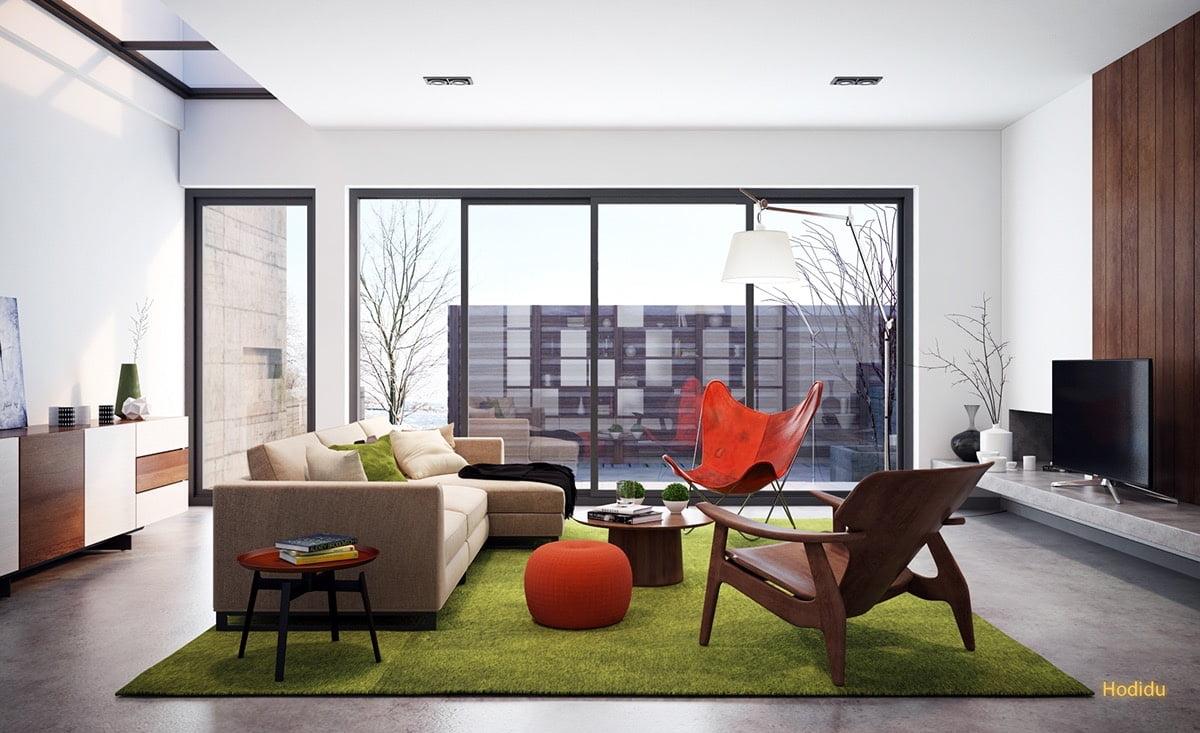 trang trí phòng khách đơn giản 9