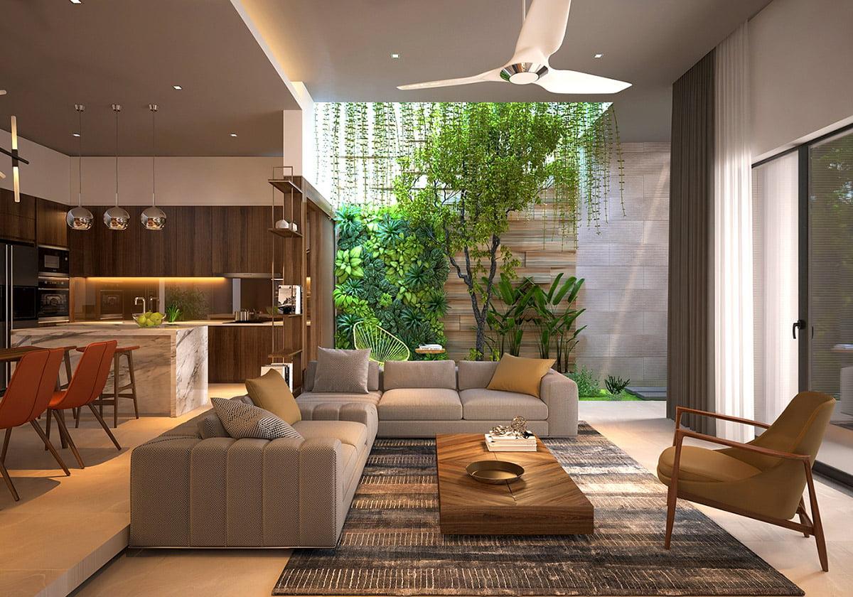 trang trí phòng khách đơn giản 10