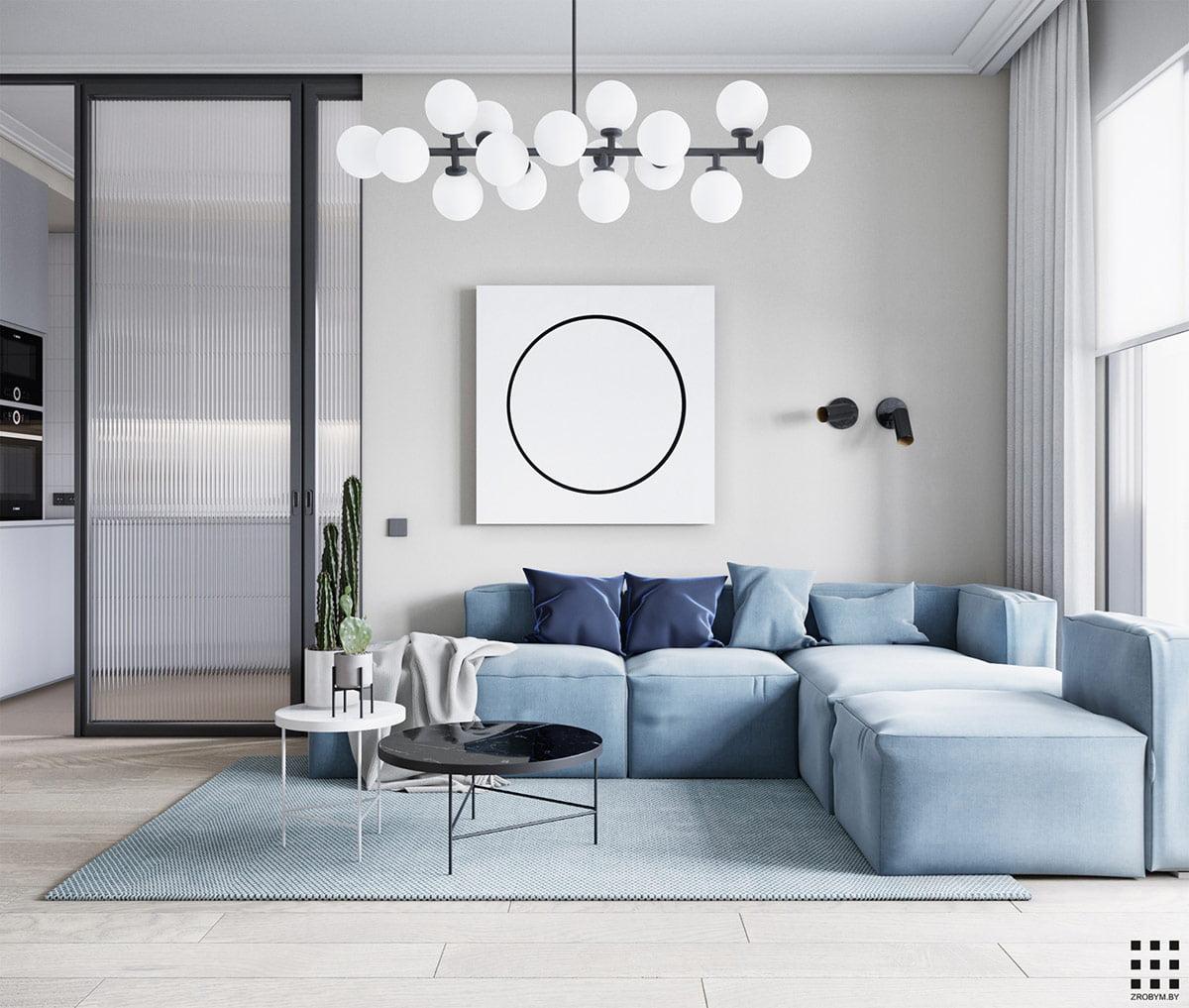 trang trí phòng khách đơn giản 2