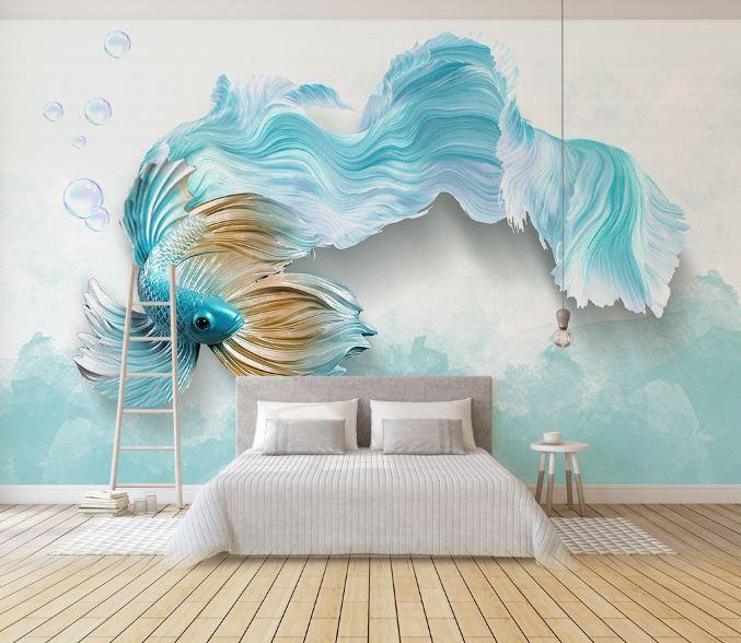 tranh 3d phòng ngủ 5