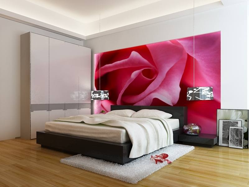 tranh 3d phòng ngủ 8