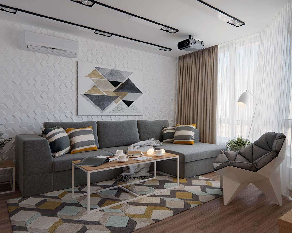tư vấn thiết kế nội thất chung cư 70m2 đẹp 01