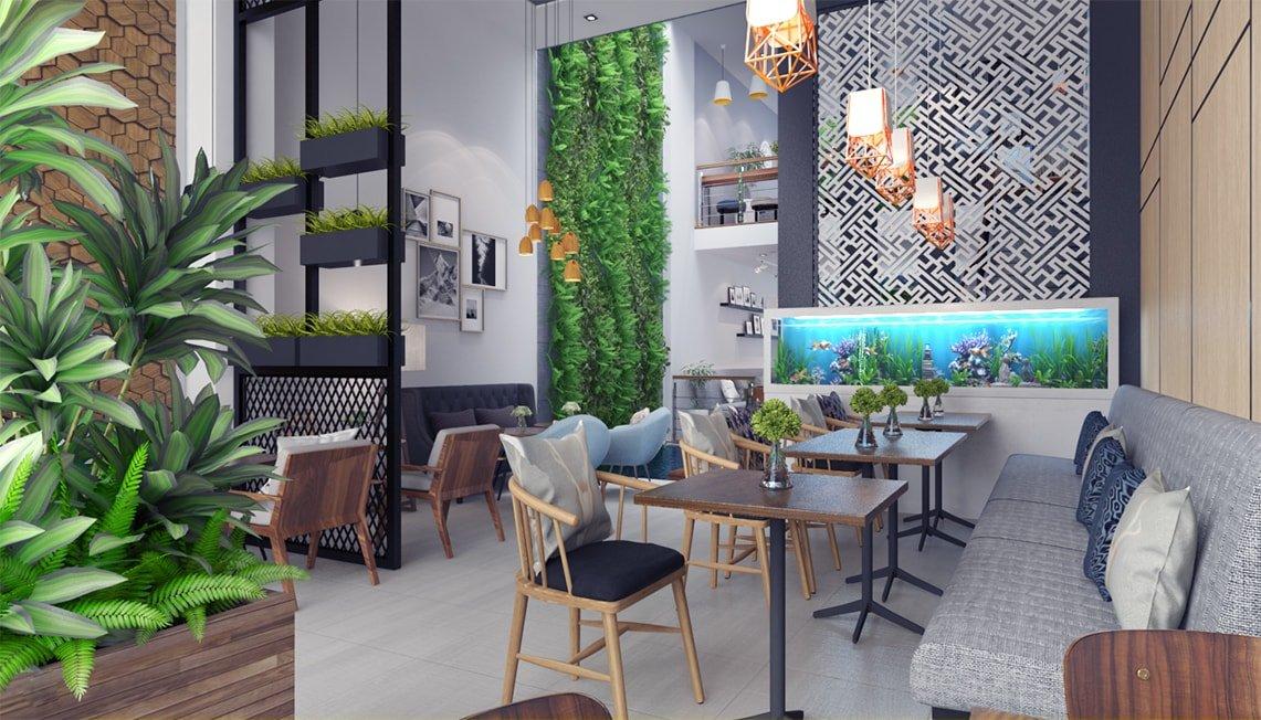 tư vấn thiết kế quán cafe nhà ống đẹp 3