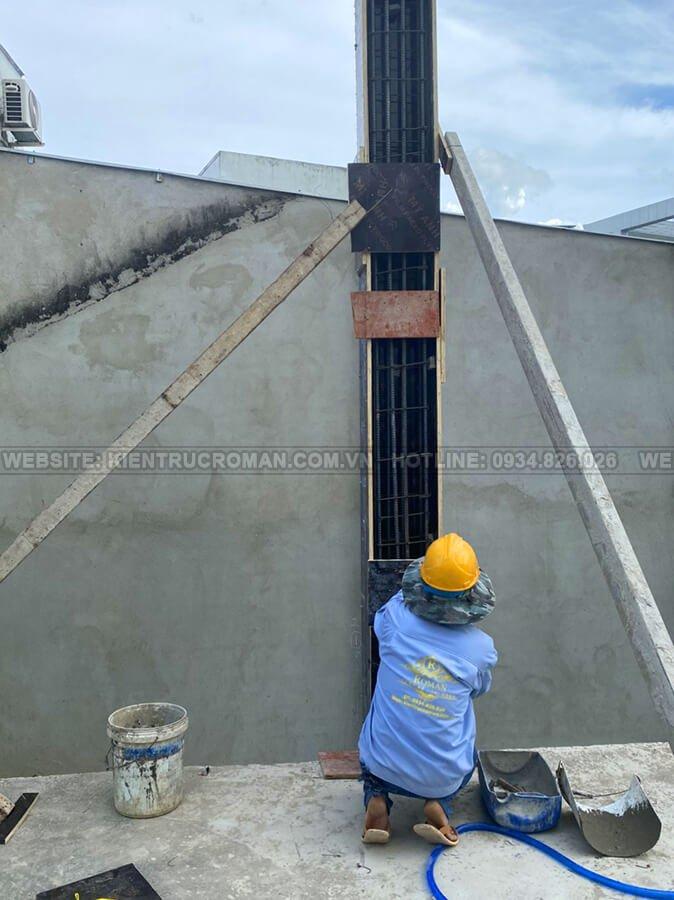 xây dựng biệt thự 8x18m