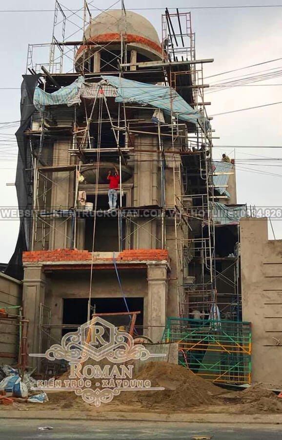 xây dựng biệt thự tân cổ điển 3 tầng