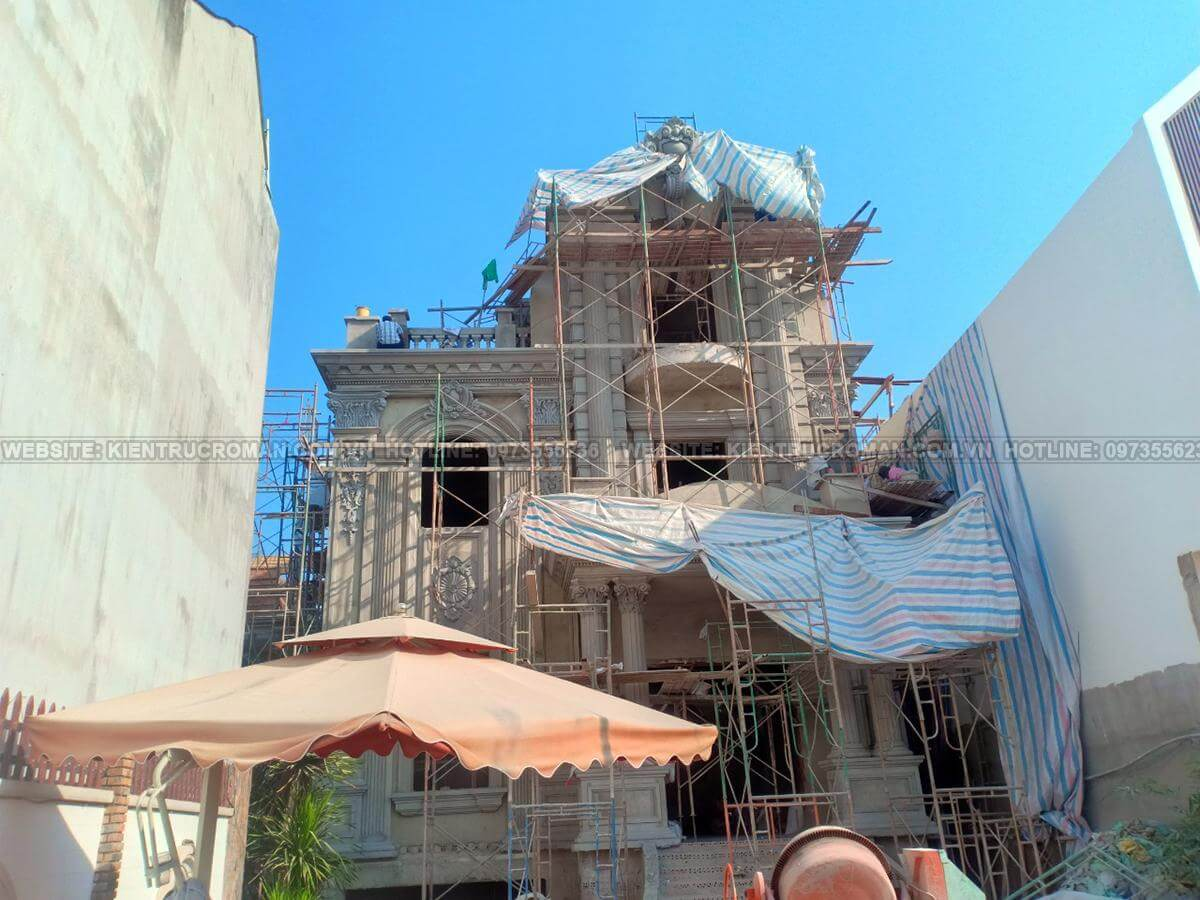 xây dựng kiến trúc biệt thự Pháp