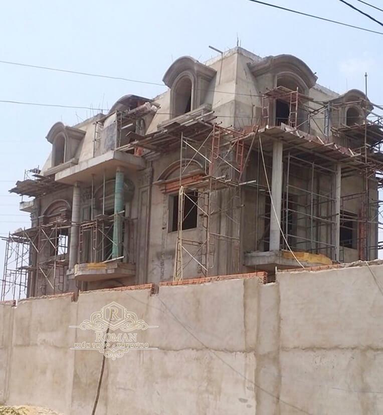 xây dựng mẫu biệt thự 2 tầng kiểu pháp