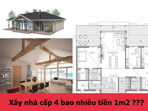 xây nhà cấp 4 bao nhiêu tiền 1m2