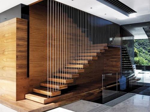 ý tưởng thiết kế cầu thang cho mẫu nhà 2 tầng đẹp sang trọng