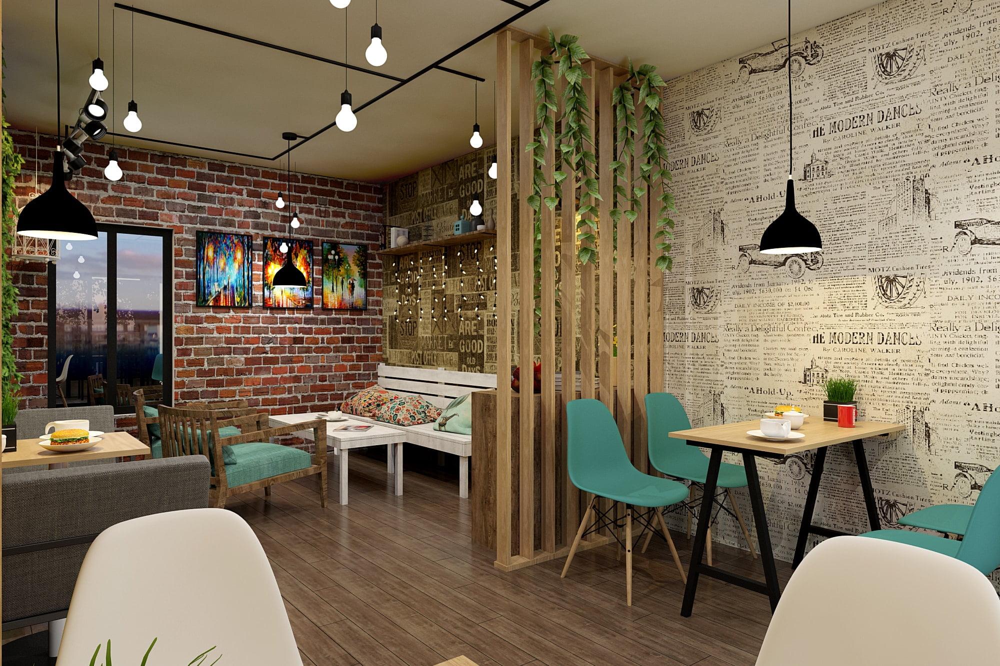 ý tưởng thiết kế quán cafe 12